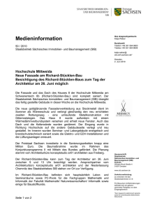 Medieninformation - Staatsbetrieb Sächsisches Immobilien