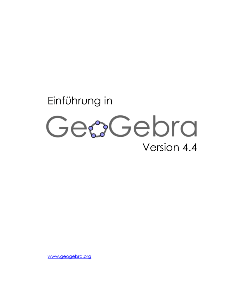 GeoGebra Workshops Outline