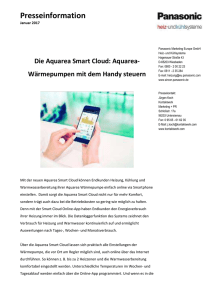 Die Aquarea Smart Cloud