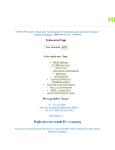 MRSA-net - Informationen über Screening