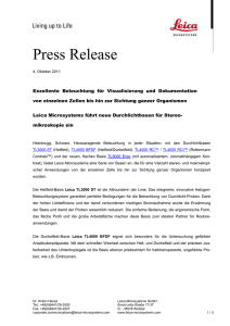 Leica Microsystems Press Release