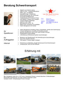 projectcargo, Schwertransport