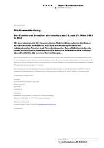 Medienmitteilung - BFH-AHB