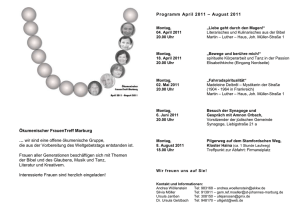 Programm September 2009 * März 2010