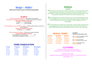 Word document – help sheet
