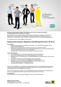 Requirements Engineer Regulatory Data