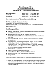 Checkliste April 2011