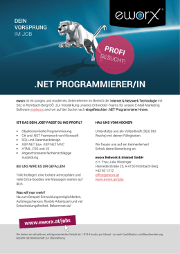 .NET PROGRAMMIERER/IN