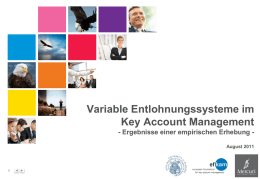 Variable Entlohnungssysteme im Key Account Management
