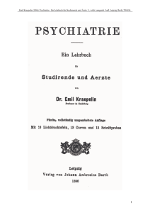 Kraepelin, Emil (1896): Die - th