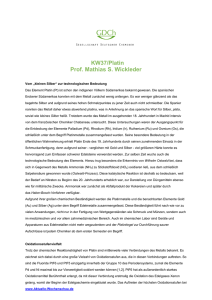 KW37/Platin Prof. Mathias S. Wickleder