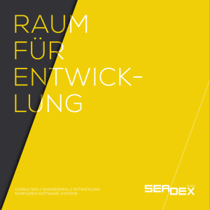 CONSULTING // ENGINEERING // ENTWICKLUNG KOMPLEXER