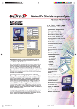 Windows NT 4 Sicherheitsmanagement-System