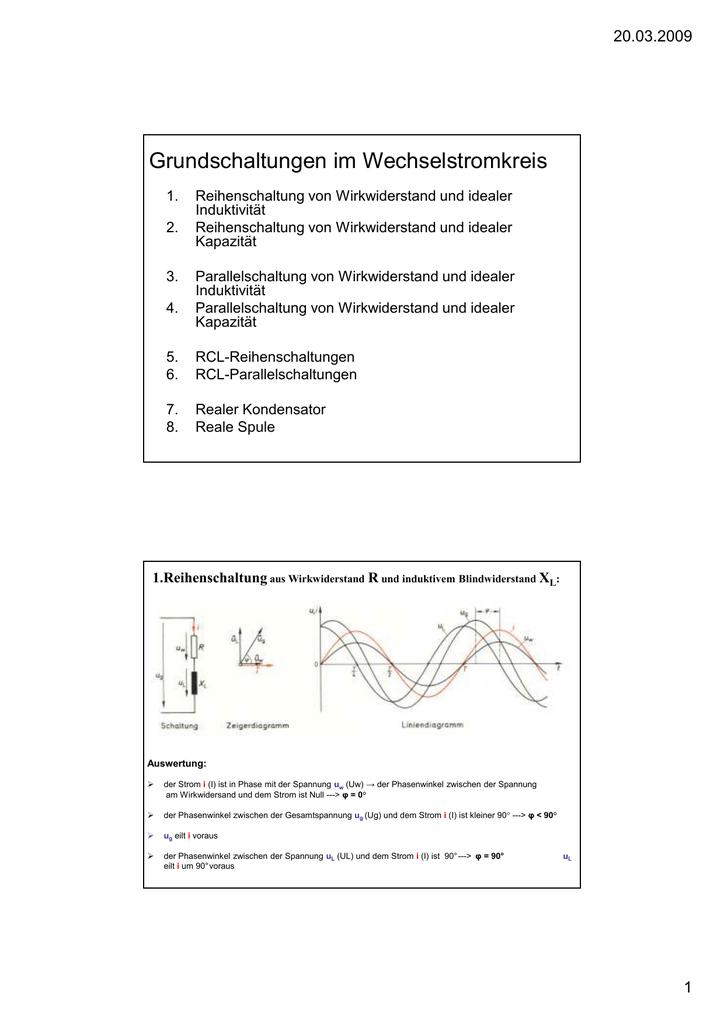 Präsentation zu Wechselstrom-Grundschaltungen