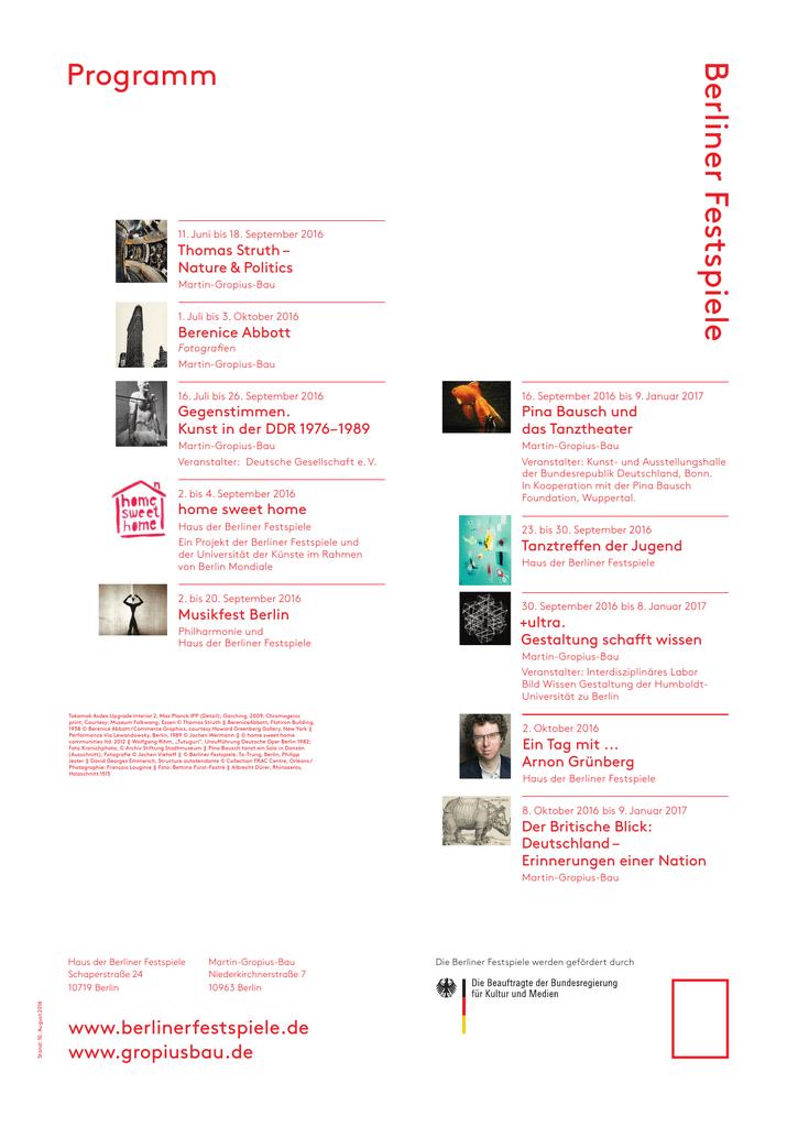 Berliner Festspiele Kunst Und Ausstellungshalle Der