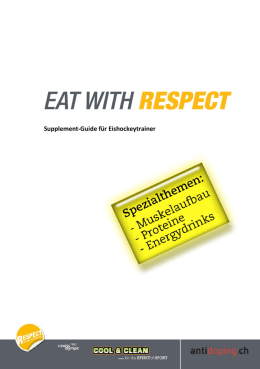 Eat with respect - Supplement-Guide