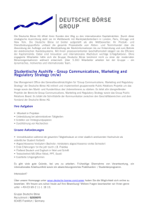Group Communications, Marketing and Regulatory Strategy (m/w)