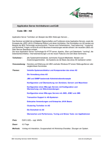Application Server Architekturen und EJB Code: DB / AS