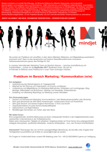 Praktikum im Bereich Marketing / Kommunikation (m/w)