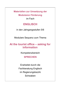 ENGLISCH At the tourist office – asking for information