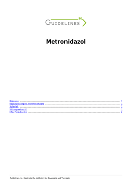 Metronidazol - Guidelines.ch