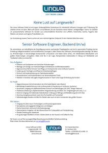 Senior Software Engineer, Backend (m/w)