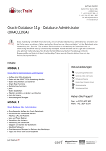 Oracle Database 11g – Database Administrator