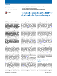 Technische Grundlagen adaptiver Optiken in der Ophthalmologie