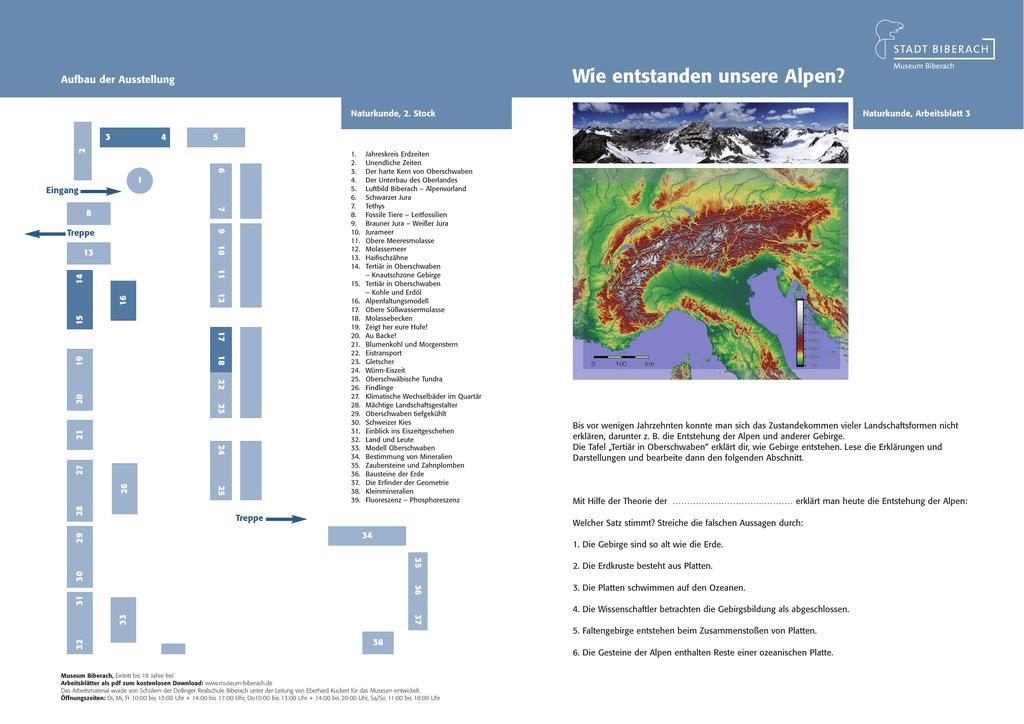 Arbeitsblatt Alpen