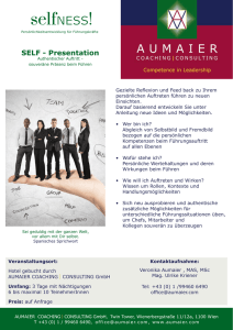 SELF - Presentation - AUMAIER Coaching Consulting