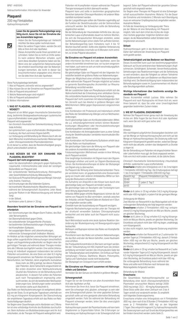 plaquenil und chloroquinphosphat rezension