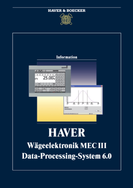 Wägeelektronik MEC III Data-Processing