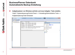 Datenbank Backup - BusinessPlanner