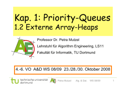 Kap. 1: Priority-Queues - Chair 11: ALGORITHM ENGINEERING