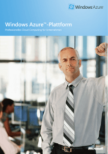 Windows Azure™-Plattform