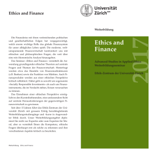 - Advanced Studies in Applied Ethics