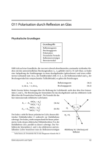 O11 Polarisation durch Reflexion an Glas