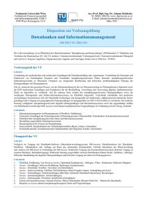 Datenbanken und Informationsmanagement
