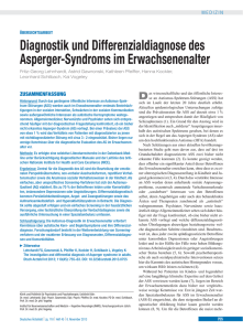 Diagnostik und Differenzialdiagnose des Asperger