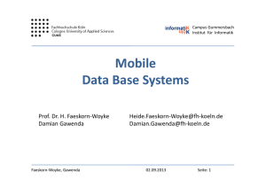 Mobile Data Base Systems