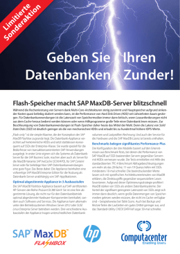Produktblatt SAP MaxDB Flashbox