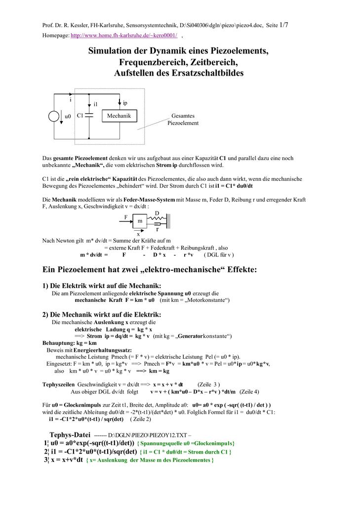 kraft f formel