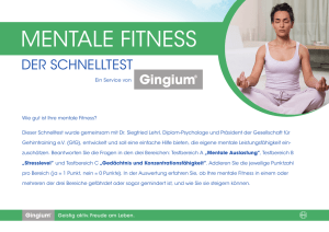 MENTALE FITNESS