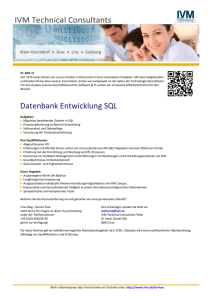Datenbank Entwicklung SQL - IVM Technical Consultants