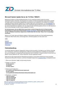 MS System Update Server | Campussoftware - ZID
