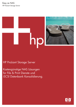 HP ProLiant Storage Server Kostengünstige NAS Lösungen