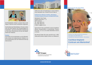 Flyer Cochlear-Implant-Centrum - Katholisches Klinikum Koblenz