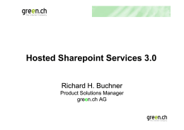 Hosted Sharepoint Services 3.0