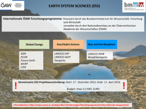 EARTH SYSTEM SCIENCES (ESS)