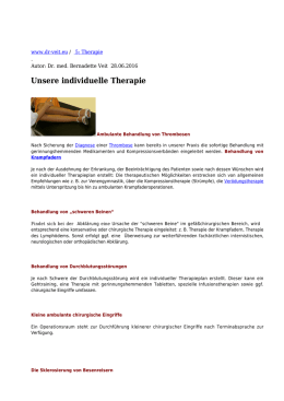 Unsere individuelle Therapie